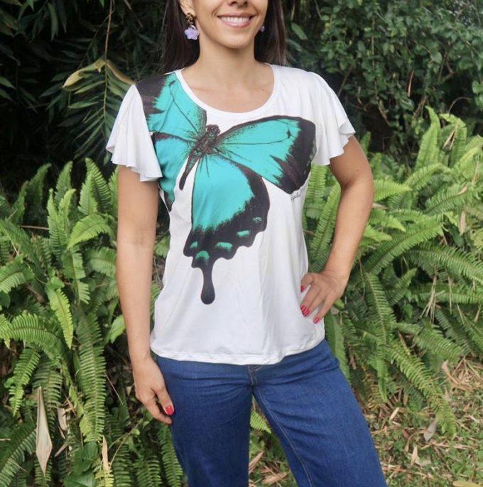 Camiseta Mariposa Lorquinianus manga semi campana
