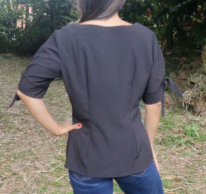 Blusa talla S Caballito de mar manga bombacha