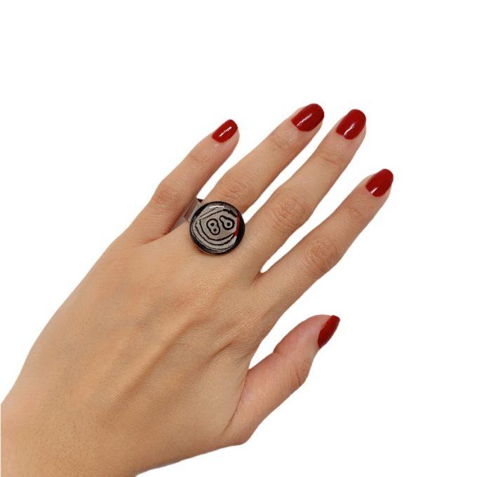 anillo acero mariposa pequeño