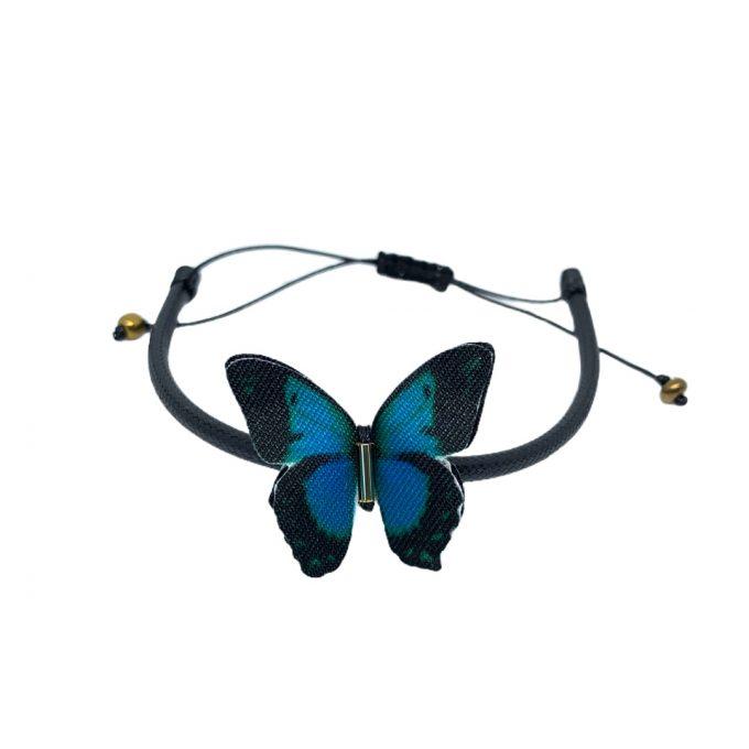 Pulseras mariposa de tela