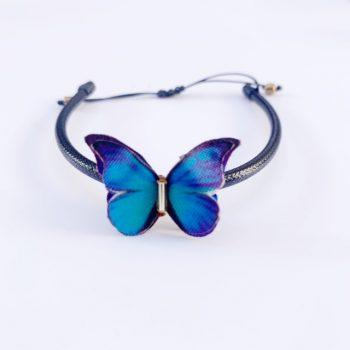 Pulseras mariposas de tela