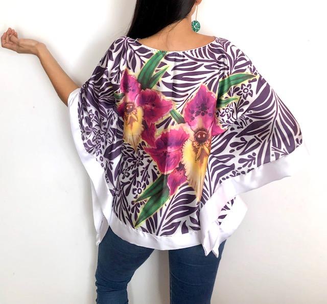 Blusones orquídea