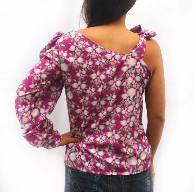 Blusa de 1 manga Orquídea Bambú