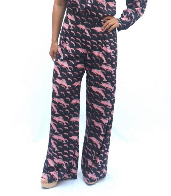 Pantalon Delfines rosado Talla L