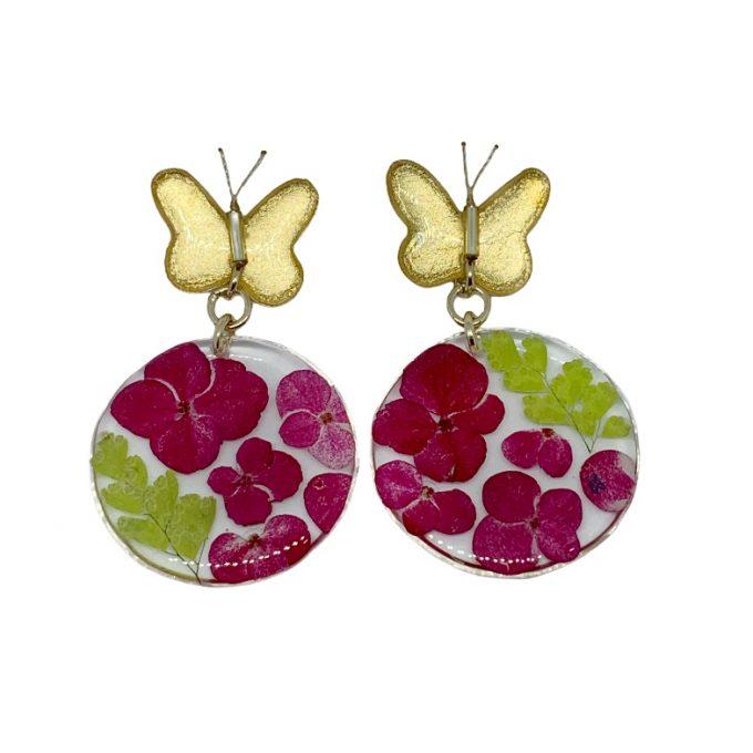 arete flor topo mariposa