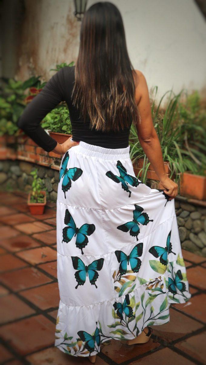 Falda Primavera Talla L Mariposa lorquinianus