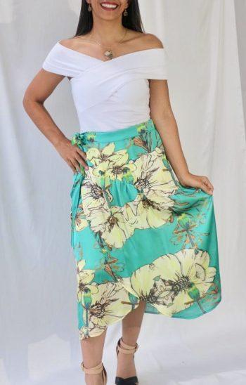 Falda Tulipán Barranquero verde talla ajustable